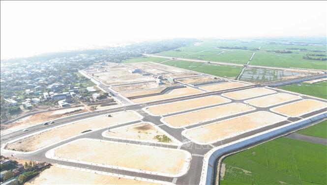 Nhiều dự án dân cư đang được đầu tư xây dựng tại thị trấn Cát Tiến.